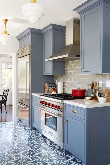 modern deco kitchen redesign by emily henderson featuring