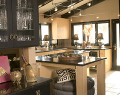 Modern Deco eclectic kitchen