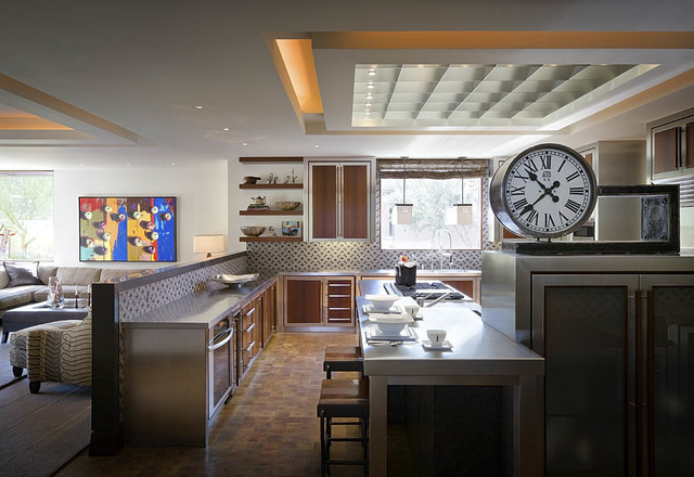 Modern Desert Home  Contemporary  Kitchen  orange county  by Harte