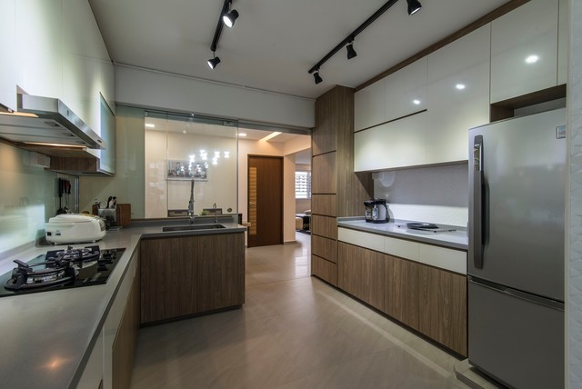This Is An Example Of A Modern Kitchen In Singapore.