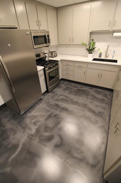 Modern Epoxy Floor in kitchen Liquid Dazzle