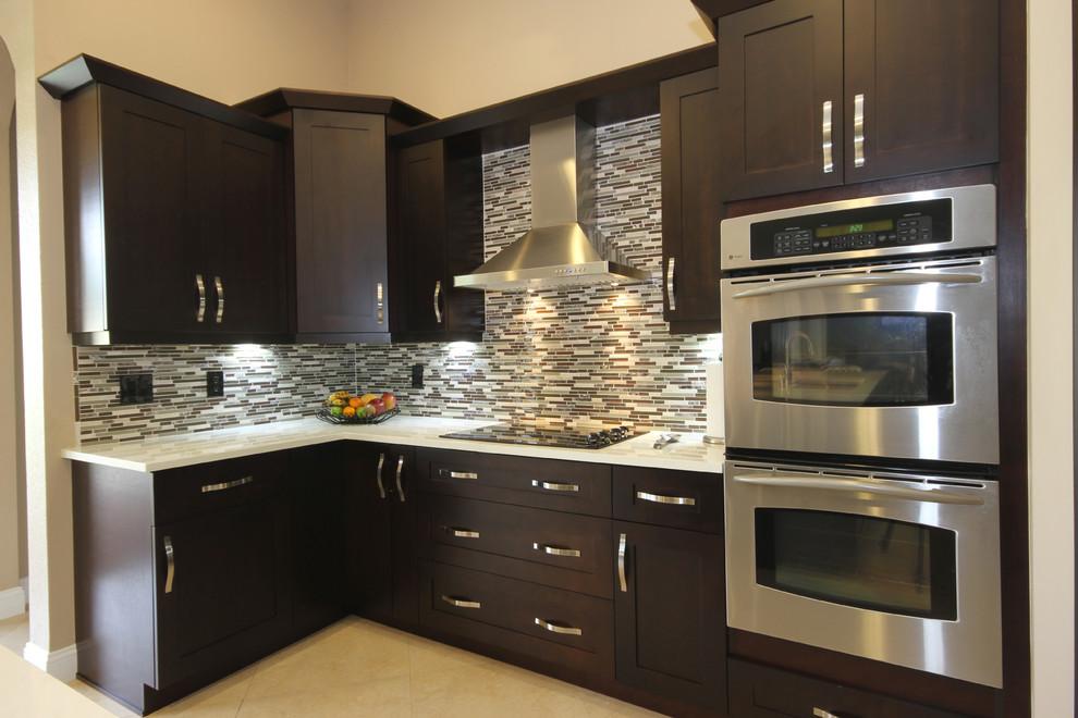Modern Espresso Kitchen Modern Kitchen Miami By Fresh Remodel