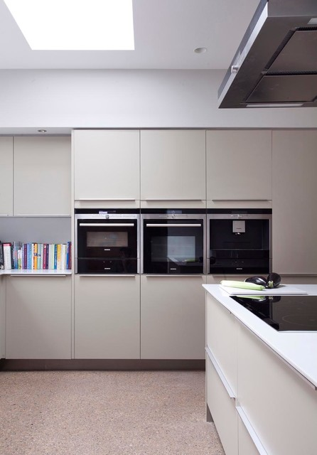 Modern extension to 1920s house contemporary kitchen for Modern 1920 s kitchen