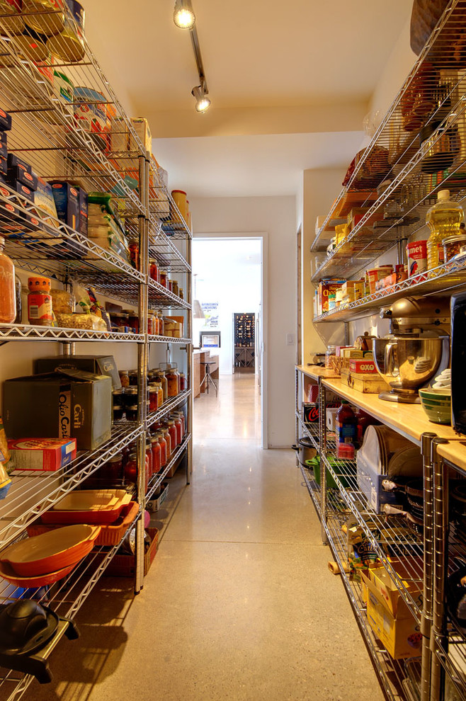 Cottage kitchen pantry photo in Toronto with open cabinets