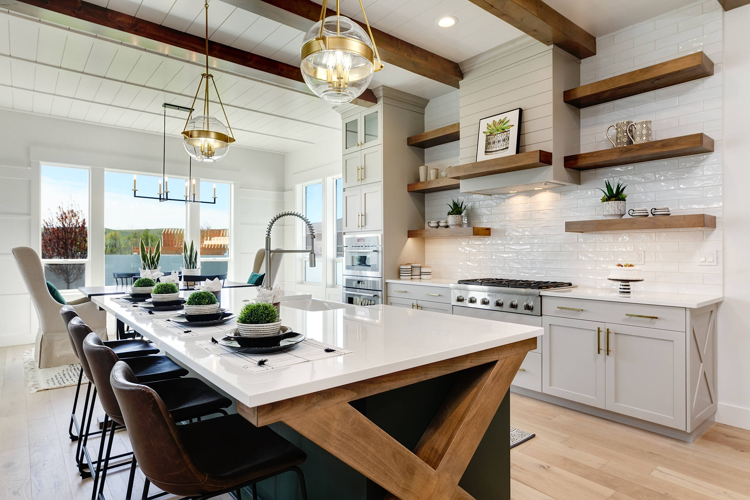 75 Beautiful L Shaped Open Concept Kitchen Pictures Ideas November 2020 Houzz