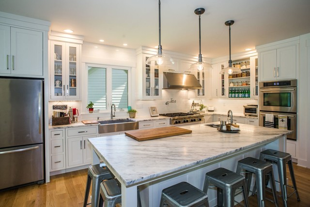 Modern Farmhouse High Pointe Custom Homes Llc Country Kitchen Cincinnati By Sensible