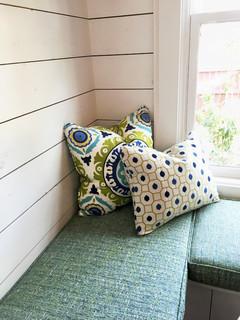 Modern Farmhouse Kitchen Bench Cushion Pillows Farmhouse Kitchen Other By Window Works Studio Inc