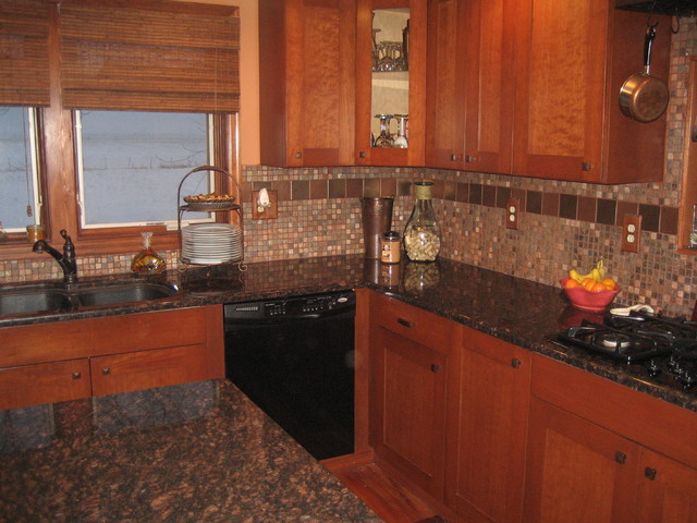 Attractive Tan Brown Granite Backsplash Ideas Part - 8: Modern Farmhouse Kitchen Remodel Farmhouse-kitchen
