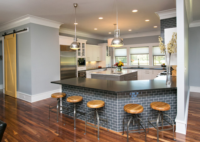 Modern Kitchen Modern Farmhouse Kitchen Dark Cabinets Home