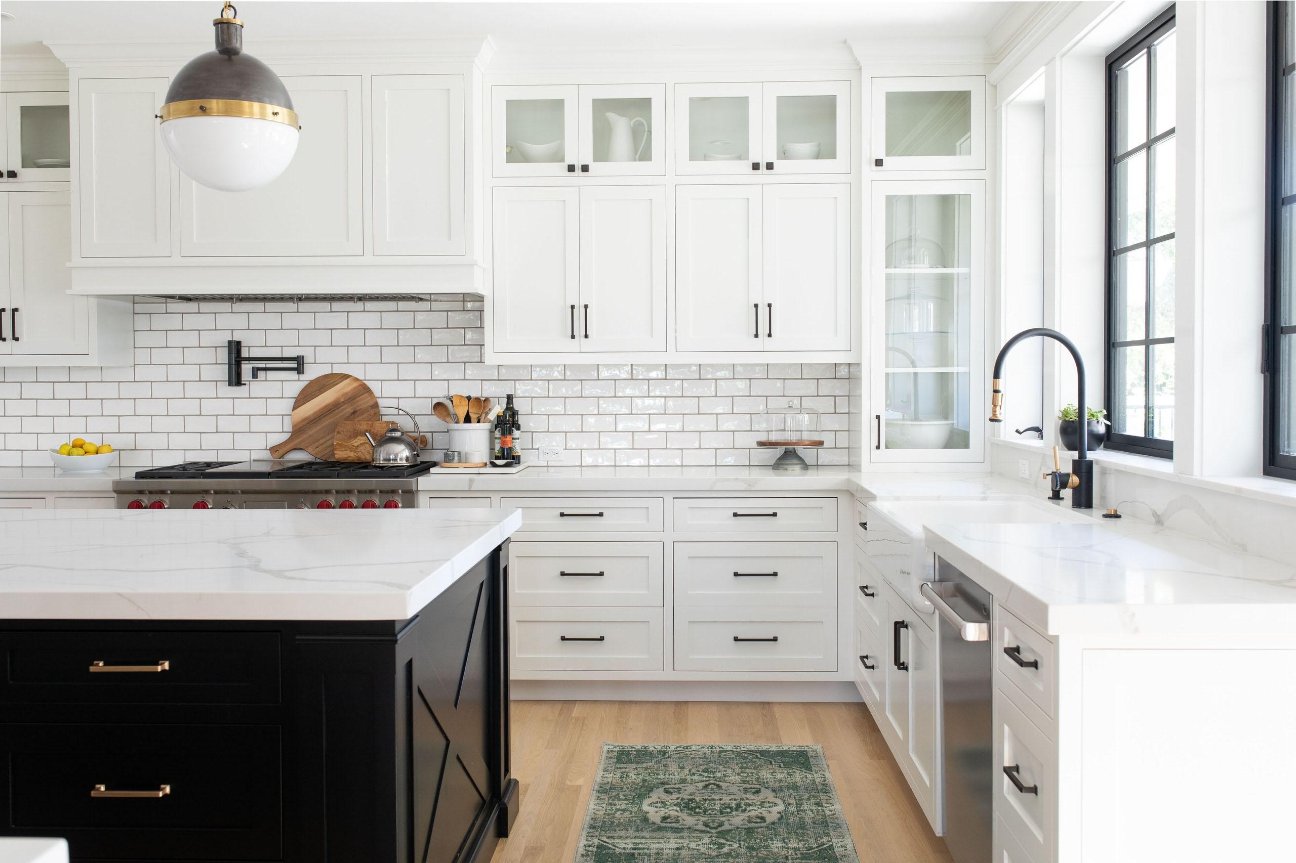 Image of: 75 Beautiful Farmhouse Kitchen With Subway Tile Backsplash Pictures Ideas November 2020 Houzz
