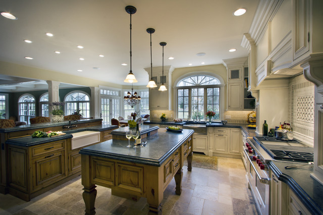 modern french country kitchen - far hills nj - traditional