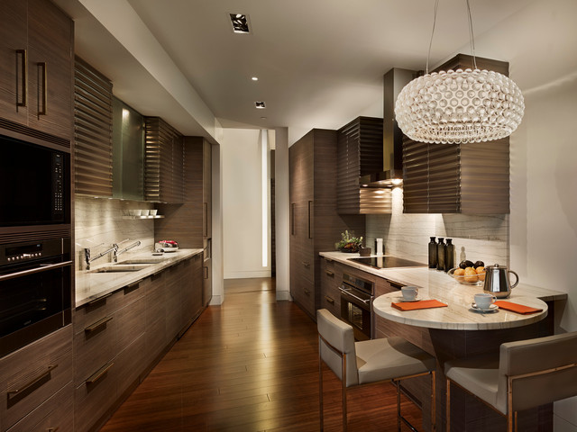 Modern galley kitchen contemporary kitchen for Modern galley kitchen ideas