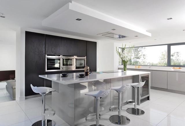 Modern Gloss Grey Kitchen Contemporary Kitchen