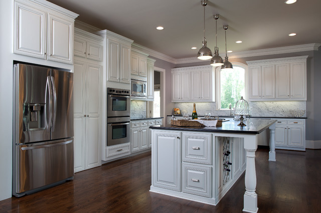 Modern Gourmet Kitchen - Traditional - Kitchen - atlanta - by Beauti-Faux Finishes