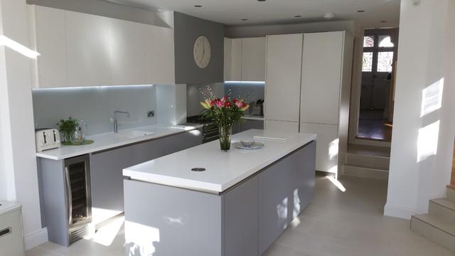 Modern Grey U0026 White Handles Kitchen By Schmidt Barnet Modern Kitchen