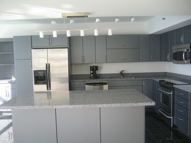 Kitchen Gray White Cabinets