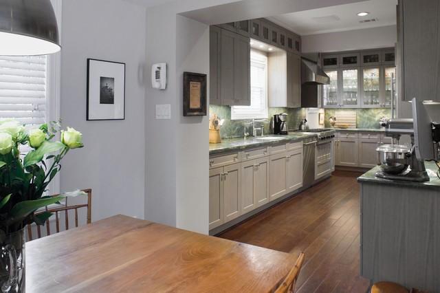 Modern Grey Kitchen In Oak Eclectic Kitchen