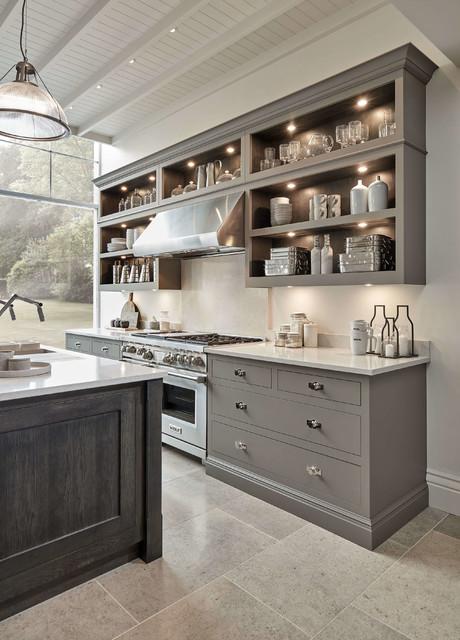 Modern Grey Kitchen Industrial Cocina Londres De Tom Howley Houzz