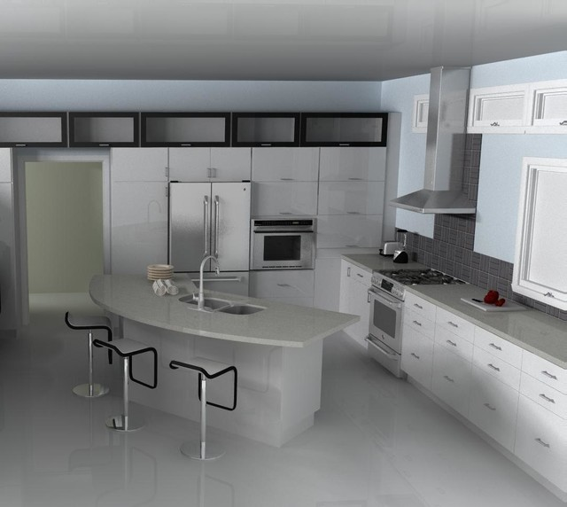 Modern IKEA kitchen - ABSTRAKT white - Modern - Kitchen ...