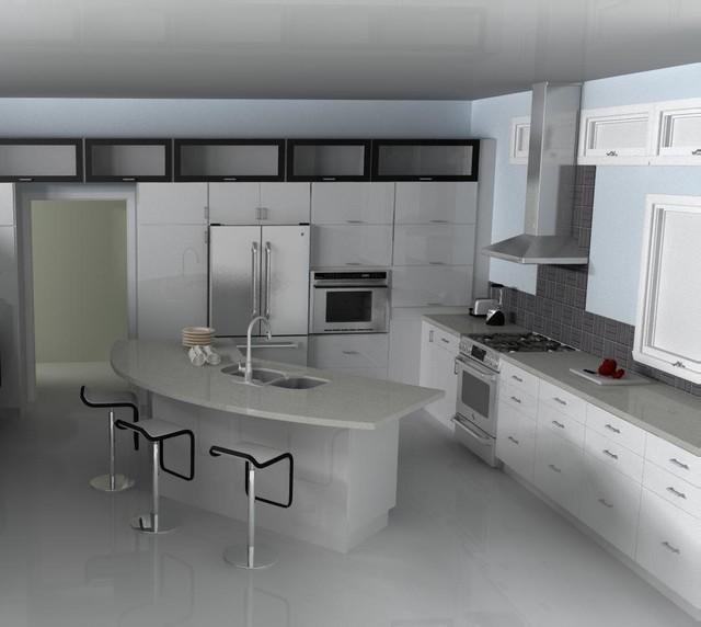 Modern L Shaped Kitchen Designs With Island: Modern IKEA Kitchen