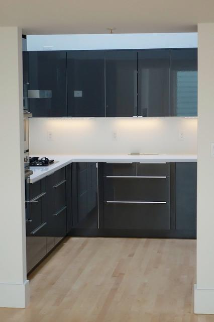 Modern IKEA Kitchen In ABSTRAKT Gray   Modern   Kitchen ...