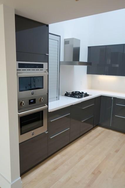 Modern ikea kitchen in abstrakt gray modern kitchen for Kitchen ideas grey gloss
