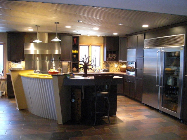 Modern industrial farm house kitchen modern kitchen for Industrial modern kitchen designs