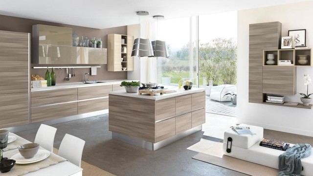 Modern italian custom made kitchens by lube modern for Scavolini pareti attrezzate