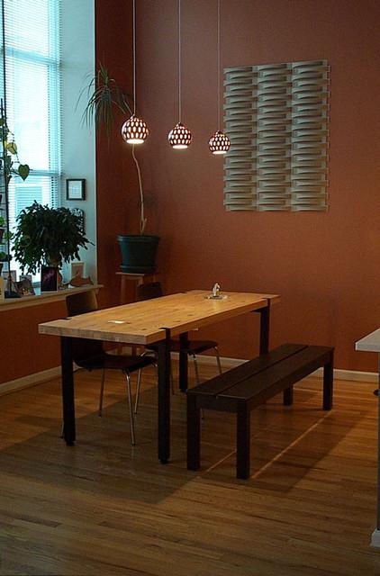 Modern Kitchen & farm table modern-kitchen