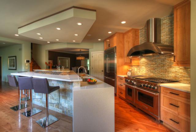 Modern Kitchen & Work Suite contemporary-kitchen