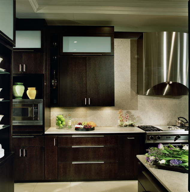 Modern Kitchen Built In Appliances Contemporary Kitchen
