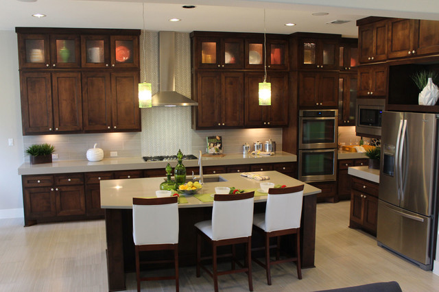 Modern Kitchen Cabinets With Dark Stain By Burrows Cabinets Modern