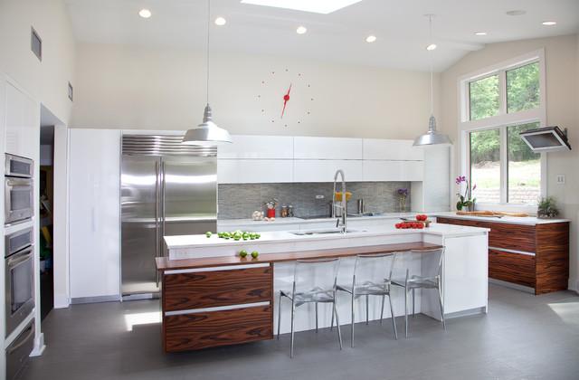 Modern Kitchen Design In Nj Moderno Cocina New York De Kuche Cucina
