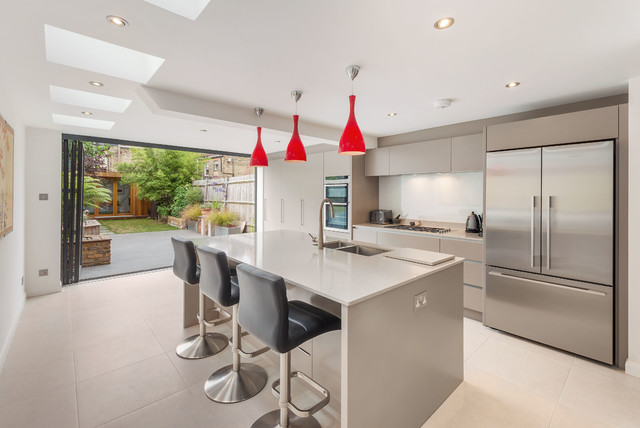 Modern Kitchen Extension In South West London Contemporary Kitchen