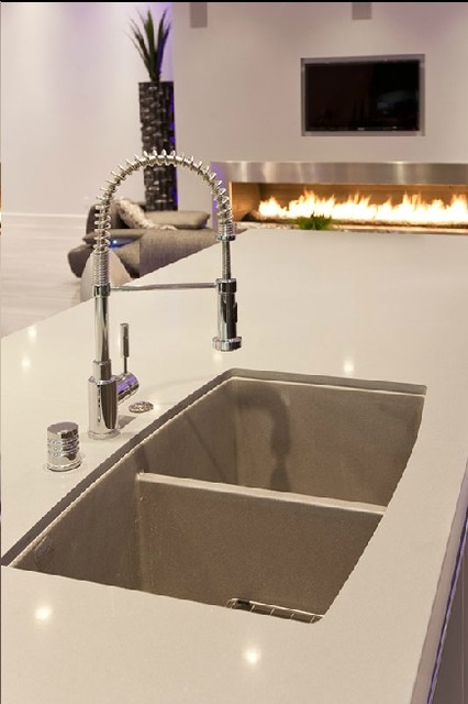 Modern Kitchen featuring Blanco America Sink and Faucet ...