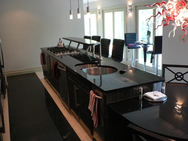 Modern Kitchen - Gloss Red & Dark Zebra modern-kitchen