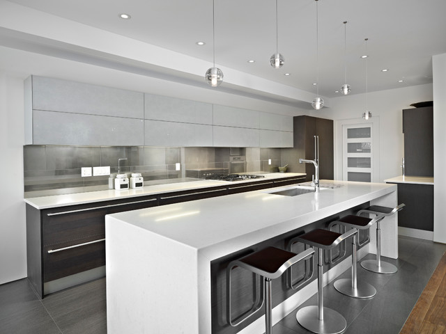Modern kitchen modern kitchen edmonton by habitat for New modern kitchen pictures