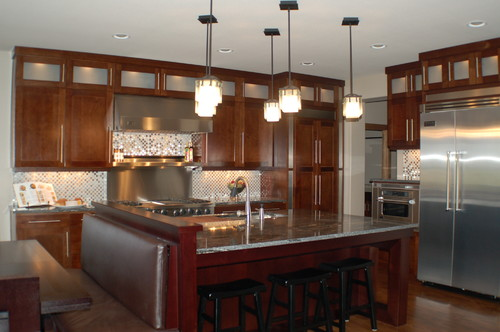 Love this kitchen design can you tell me the measurements for Kitchen island booth