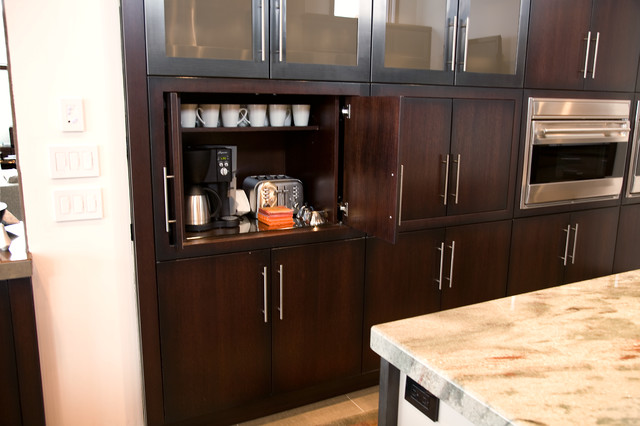 Coffee bar in kitchen modern kitchen