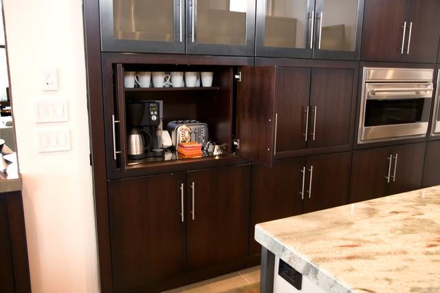 coffee bar in kitchen modern kitchen detroit by