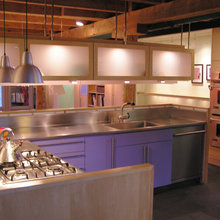 Modern Kitchen inserted into Antique Carriage House