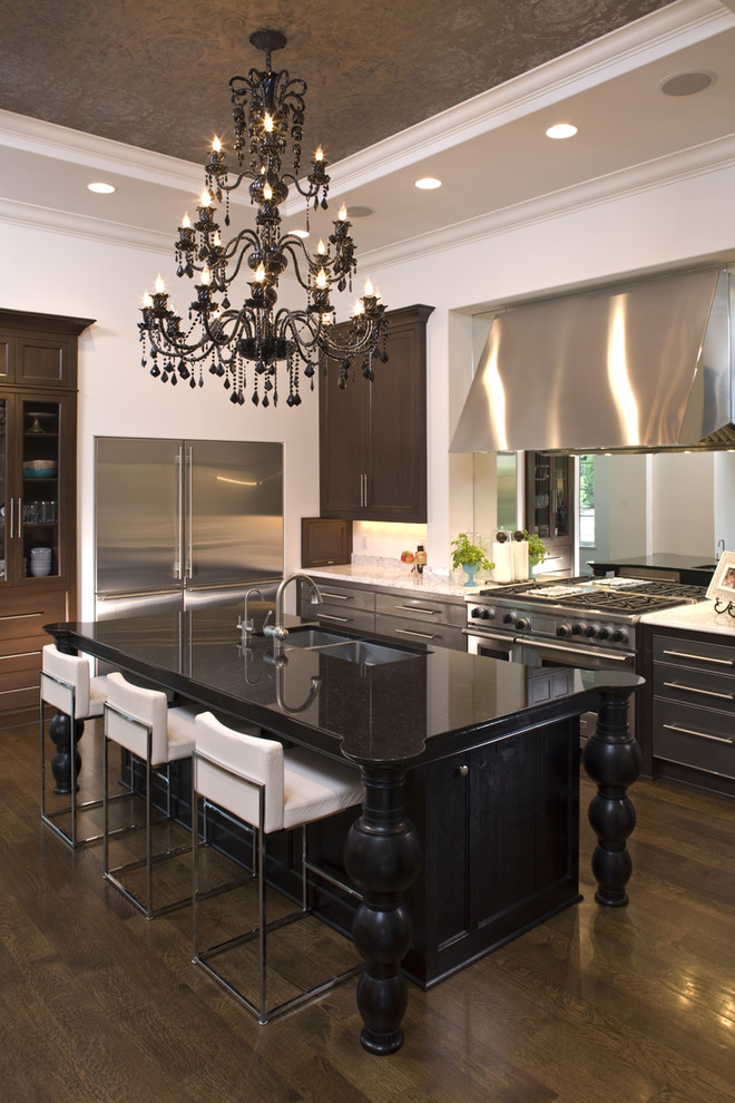 Tuscan kitchen photo in Minneapolis with stainless steel appliances