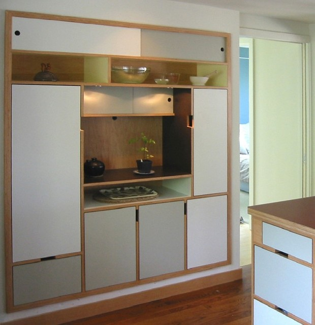 Asagi Pantry Modern Kitchen Seattle By Kerf Design
