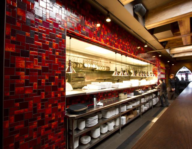 Restaurant Kitchen Tile red hot restaurant tile - modern - kitchen - minneapolis -
