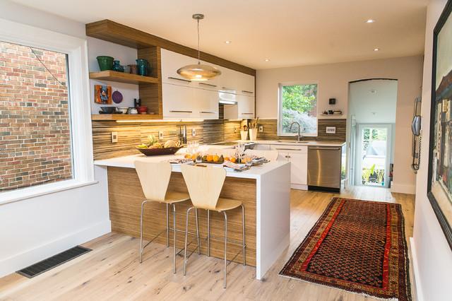 Rustic Neue Floor Projects European Wide Plank Modern Kitchen Toronto By Neue Floors