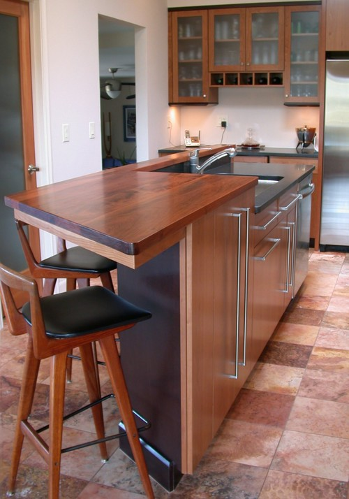 Counter Height Eating Bar : Modern Kitchen design by Phoenix Architect Patricia B. Warren, AIA ...