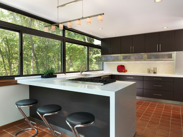 Modern kitchen modern kitchen providence by ri for Terracotta kitchen ideas