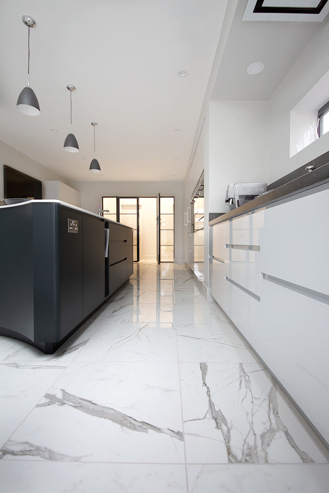 Modern Kitchen Statuario Marble Effect Porcelain Modern Kitchen Other By Quorn Stone