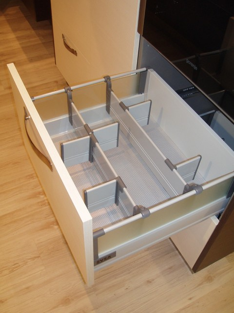 Low Drawer with Adjustable Divider Wall System - Modern - Kitchen - Toronto - by SVEA KITCHENS