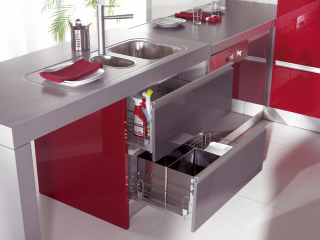 Lower Cabinets For Kitchen Sink With Metal Retractable Baskets Modern Kitchen Toronto By